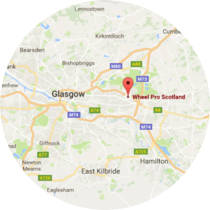Wheel Pro Scotland Alloy Wheel Repair Glasgow Wrokshop Location Map